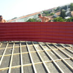 acoperis pe structura de lemn